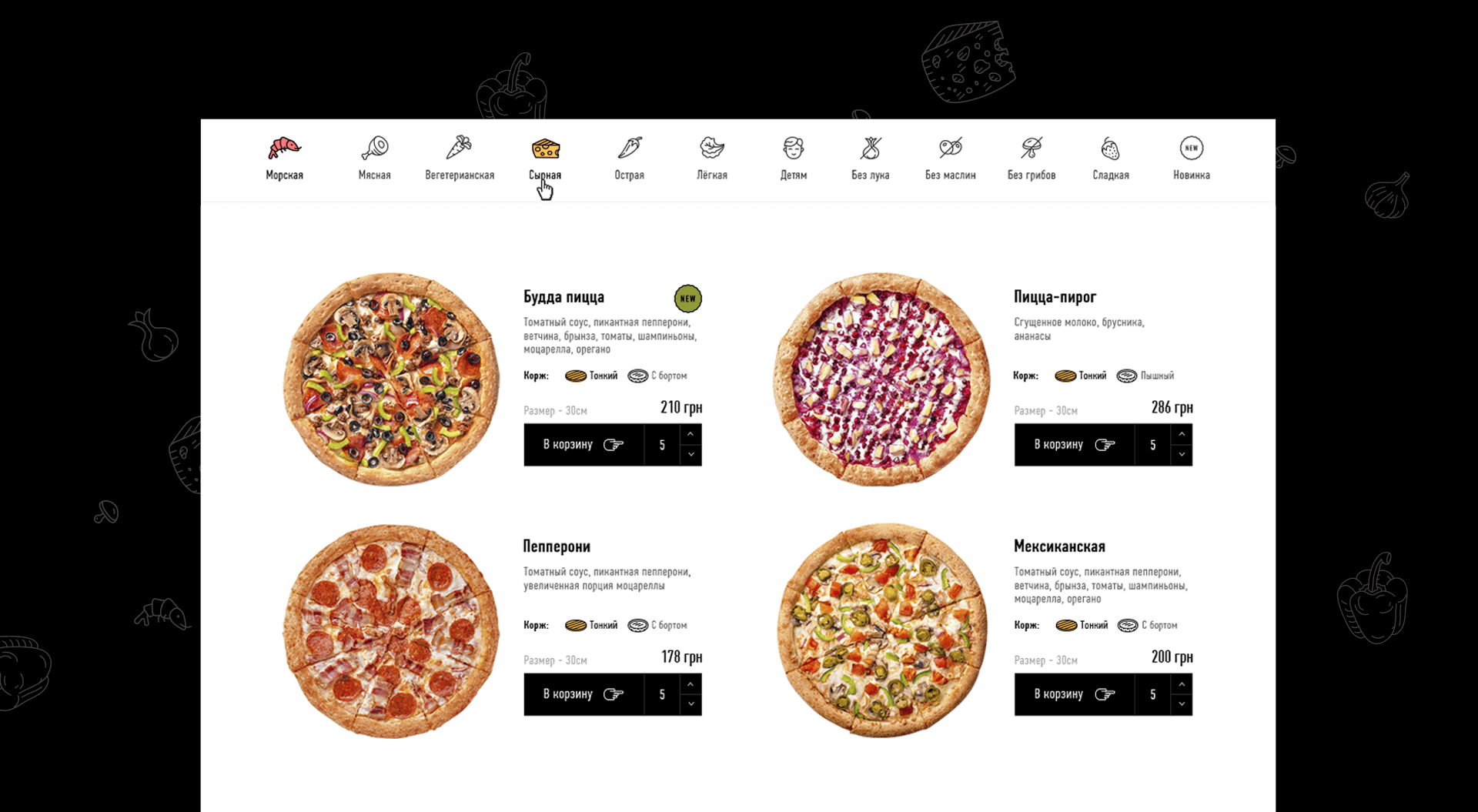 Разработка сайта для заказа еды фото