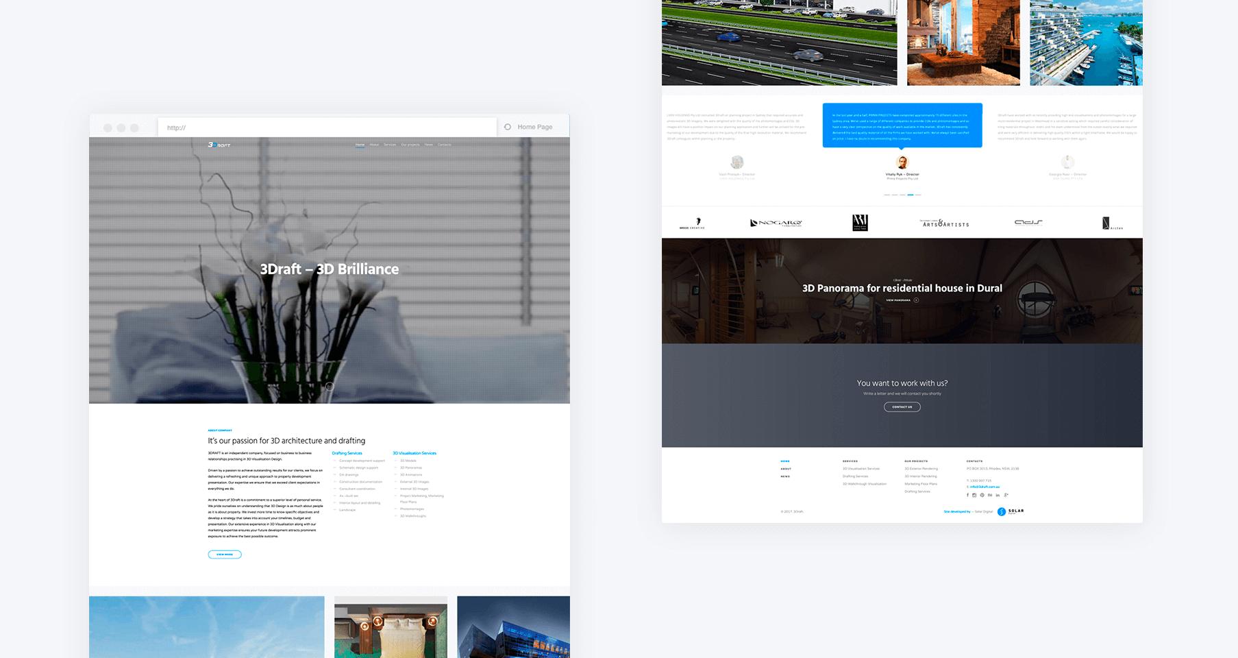 Создание веб дизайна сайта Wordpress